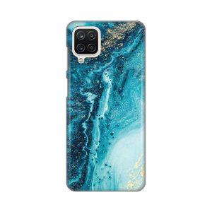 Print maska za Samsung A12 Mermerno plava (017668)
