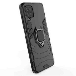 Samsung A12 maska crna Defender sa prstenom (91904)
